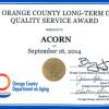 Quality Service Award