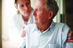 Elderly Senior Home Care Concerned Man