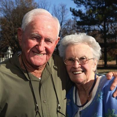 Elderly Senior Home Care Couple Autumn
