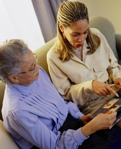 Elderly Senior Home Care Looking at Photos