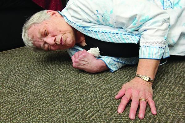 Elderly Senior Home Care Woman Fall